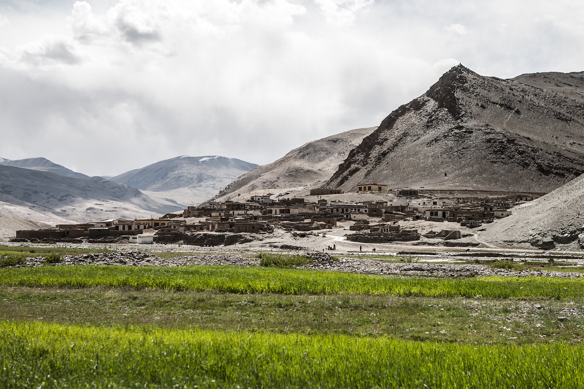 Landscape of villages in Ladakh