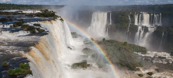 Devil's might at Iguacu waterfalls