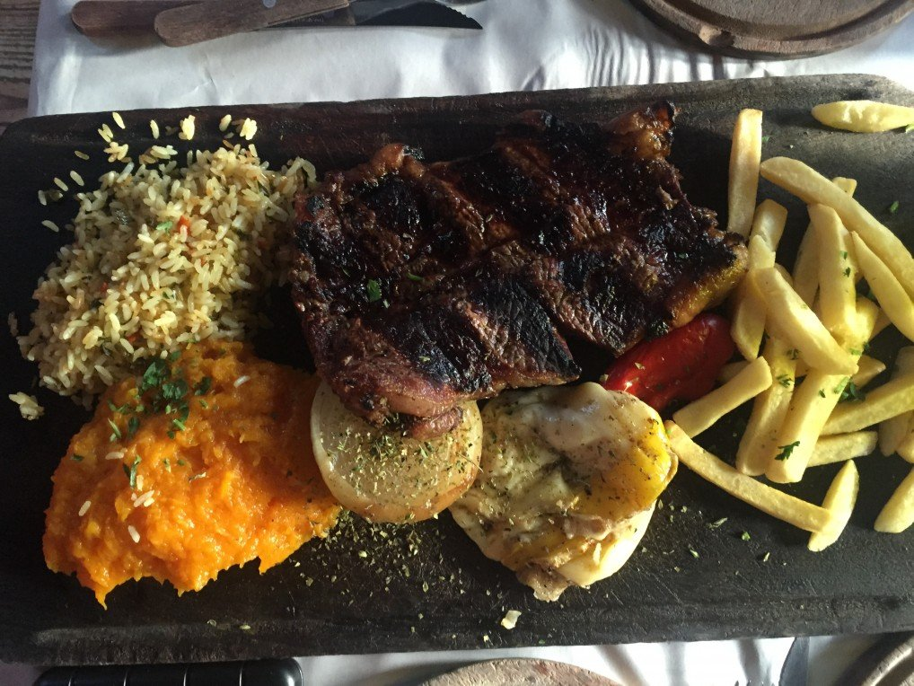 First steak lunch in Buenos Aires, Argentina