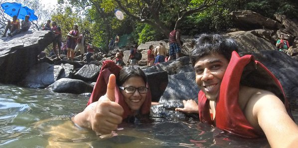 Jeep safari to Dudhsagar waterfalls Goa via wildlife sanctuary